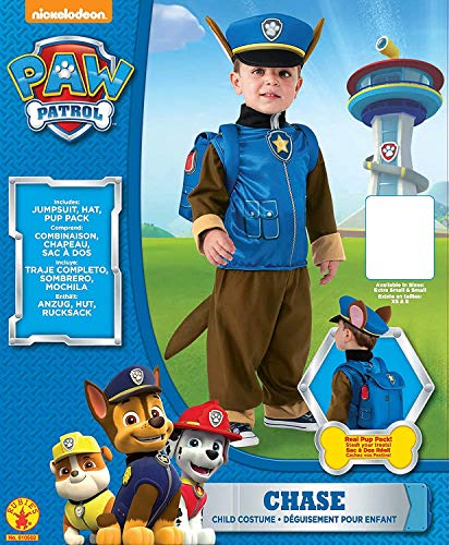 Rubies 610502-T Patrulla Canina Disfraz Chase para niño, talla 2-4 (3 años)