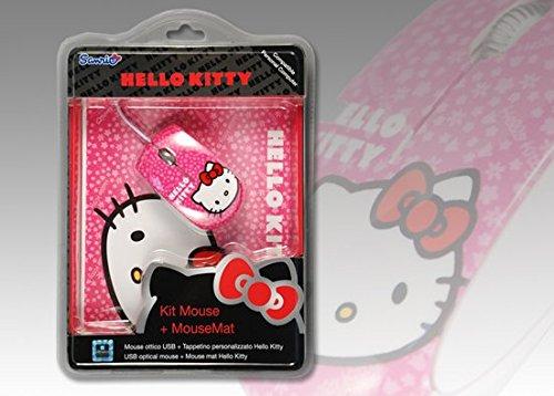 Xtreme 94592 Hello Kitty Kit Mouse e Tappetino, Rosso/Rosa/Nero/Bianco