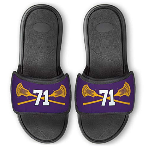 Repwell Lacrosse Slide Sandals   Your Number   Purple   W6.5
