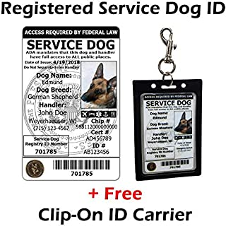 digital service dog id card