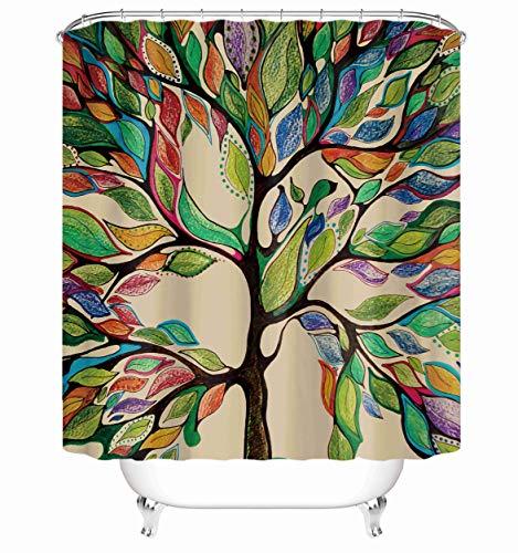 "Taysta Fabric Shower Curtain Curtains with Hooks Tree of Life Colourful Decor Creative Home Ideas 72""X72"" Waterproof Decorative Bathroom"