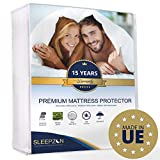 SLEEPZEN Protège Matelas Imperméable 160x200 cm - Molleton 100% Coton, Alèse de lit imperméable - Anti-Acarien,...