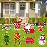 8 piezas Noel de decoración para jardín, fiesta, Navidad, Gaint Ornamentos set para jardín decoración navideña, casa de muñecas,hogar, mesa, decoración muñeco de nieve