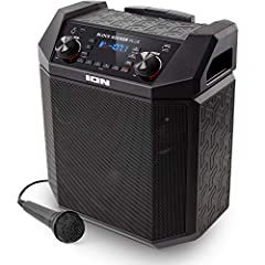Dynamic, powerful sound 8 inch woofer and wide dispersion tweeter deliver clear, lifelike sound; A 100 watt peak power amplifier pumps up the volume and a Bass Boost button instantly cranks up the low end Ultra-portable centerpiece for your gathering...