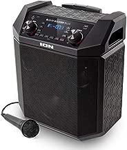 ION Audio Block Rocker Plus - Portable Bluetooth Speaker 100W W/Battery, Karaoke Microphone, AM FM Radio, Wheels & Telescopic Handle and USB Charging