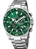 JAGUAR Reloj Modelo J861/4 de la colección Executive, Caja de 43,5 mm Verde con Correa de Acero para Caballero