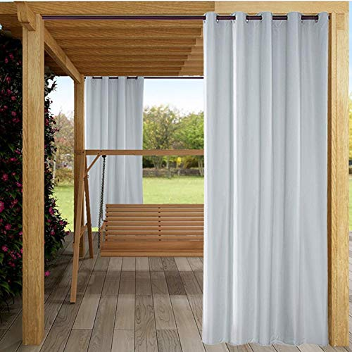 Blackout Curtains,Thermal Insulated Solid Grommet Sunproof Waterproof Curtains/Panels/Drapes for Home Courtyard Garden