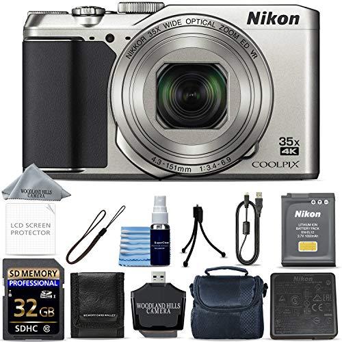 Nikon COOLPIX A900 Digital Camera (Silver) + 32GB Memory + Ultimate Starter Bundle