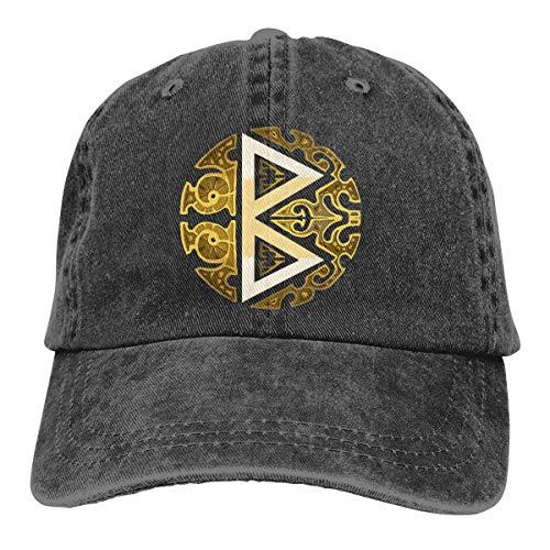 Emonye Berkana Rune Vintage Baseball Cap Trucker Hat for Men and Women