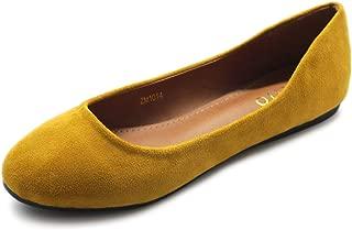 Womens Shoe Ballet Light Faux Suede Low Heels Flat