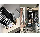 Aluminum attic Ladder Invisible Folding Staircase Multi-Function loft Ladder 3.28ft-9.84ft Custom (Black and White,Carbon Steel)
