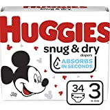 Huggies Snug & Dry Baby Diapers, Size 3, 34 Ct