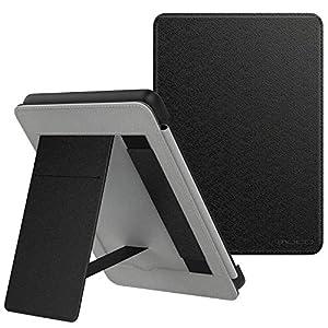 MoKo Funda para Kindle Paperwhite (10th Generation, 2018 Releases) Protectora Ligera de Cuero PU Soporte de Mano Cubierta Smart Case con Auto Sueño/Estela para Paperwhite E-Reader - Negro
