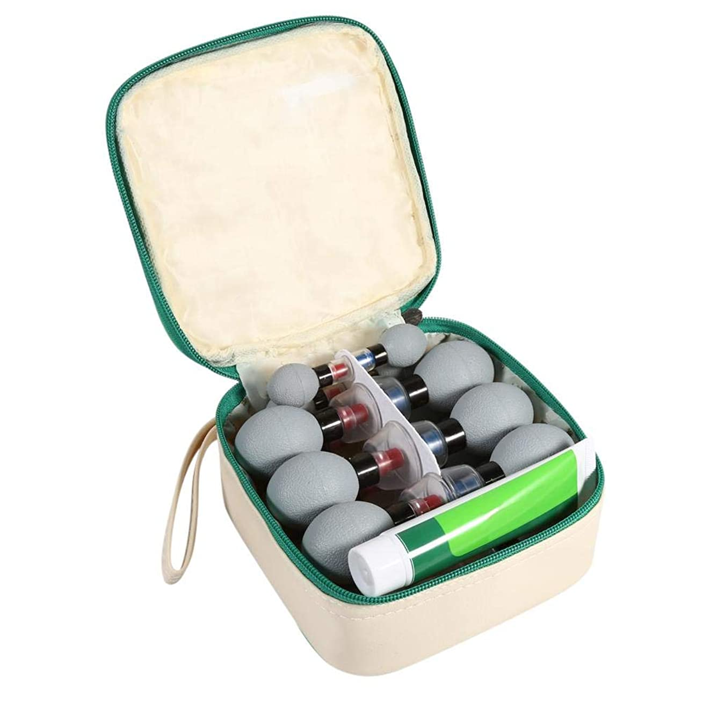 条約同化ポイント18pcs / 12pcs / 8pcs真空磁気吸引カップ鍼治療&灸カッピングセット、背中、首、脚、足、腹のためのリラックスできるスリミングボディマッサージ(18pcs)