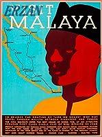 ERZANメタルポスター壁画ショップ看板ショップ看板マラヤマレーシアヴィンテージマップ旅行広告をご覧くださいインテリア 看板20x30cm