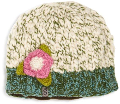 Snugbug Dicke Strick-Wollmütze, für Damen White/Turquoise