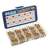 BOJACK - Kit surtido de 10 tipos condensadores de cerámica, 650 unidades, condensadores de 0.1uf/100 nF a 10 uF, en una caja
