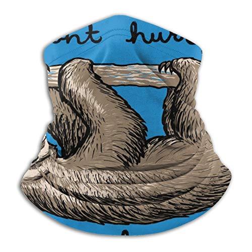 "Pasamontañas multifuncional para exteriores con texto en inglés ""Dont Hungry Be Happy Sloth"""