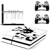 Playing video game PS4 Console and DualShock 4 Controller Skin Set by Mr Wonderful Skin - PlayStation 4 Vinylhaha
