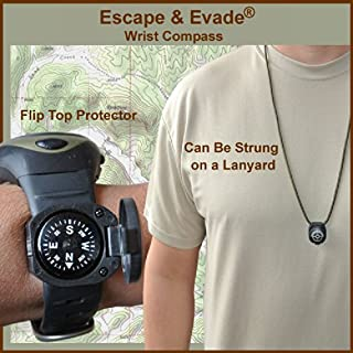 Escape & Evade Wrist Compass - Luminous - Grade AA - Flip-Top Shell