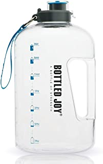 BOTTLED JOY 1 Gallon Water Bottle, BPA Free Large Water Bottle Hydration with..