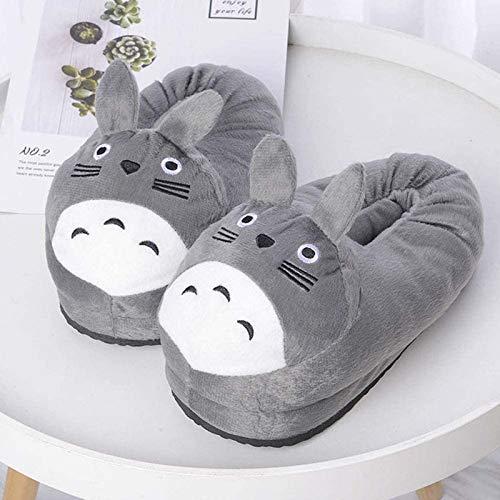FAIRYPIE Totoro, Zapatillas De Invierno para Mujer, Funda De Pie Completo, Zapatillas De Felpa Cálidas para Hombre, Algodón para El Hogar,36 / 40EU