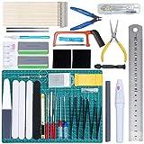 HSEAMALL Kit de herramientas de modelo Gundam, herramientas básicas para Gundam, juego de construcción de aficiones para auto Bandai, Hobby Gunpla Model Reparación y fijación