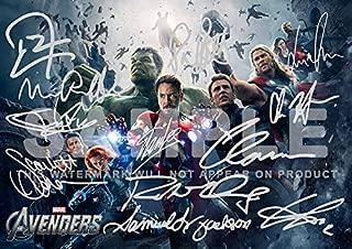 Avengers Movie Print RDJ, Stan Lee, Joss Whedon, Mark Ruffalo, Tom Hiddleston, Scarlett Johansson, Samuel L Jackson, Chris Hemsworth, Chris Evans, Clark Gregg, Jeremy Renner (11.7