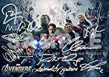Großer Filmdruck von Avengers RDJ, Stan Lee, Joss Whedon,