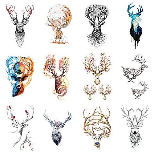 Pegatinas de tatuajes temporales para mujeres, hombres. Arte