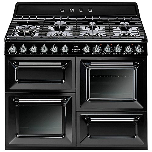 Smeg tr4110bl1Freestanding Gas Hob Black–Kitchen (Independent Kitchen, Black, Buttons, Rotary, Front, Electronic, Gas Hob)