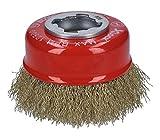 Bosch Professional 2608620730 Spazzola a Tazza Ondulato Clean per Metallo, X-Lock, Ø 75 m...