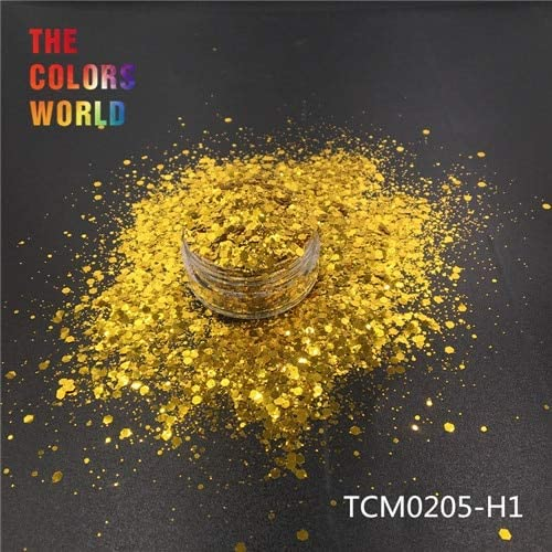 Gabcus TCT-193 Hexagon Shape Selling and selling Mix Color latest Glitter Nail Metallic for