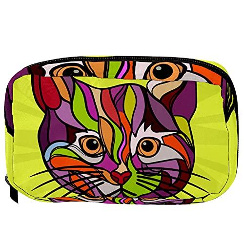 Pequeño bolso cosmético para el bolso, bolsa de maquillaje bolsa cosmética bolsa de belleza bolsa de viaje aseo de aseo bolsa de lápiz monedero con cremallera, pirámides de puesta de sol de Egipto