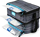Arctic Zone Ice Walls Dual Compartment Lunch Pack - Wilfred Plaid, Grey