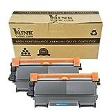 V4ink 2 x Compatible Cartucho de tóner TN2220 para Brother HL-2240D HL-2250DN HL-2270DW HL-2130 HL-2132 DCP-7065DN DCP-7060D DCP-7070DW DCP-7055 DCP-7060 MFC-7360N MFC-7460DN MFC-7460N - 2600 copias