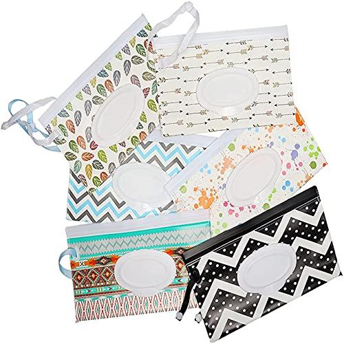 NRRN Bolsas de toallitas húmedas para bebé,Dispensador de toallitas húmedas para viajes personales con contenedor de toallitas húmedas