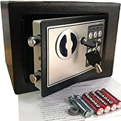 STRONG & SECURE:Digital Locking- the Yuanshikj Electronic Safety Lock Box Is Equipped with an Easy to Program Digital Keypad That Is Simple to Lock and Unlock by Entering Your Security Combination. Two Emergency Keys Are Included for Faster and More ...