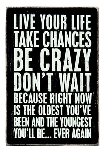 Live Your Life - Mailable Wooden Greeting Card for Birthdays, Anniversaries, Weddings, and Special Occasions