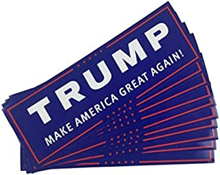 TrendyLuz 10 Pack Donald Trump President Make America Great Again MAGA Decal Bumper Sticker