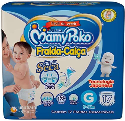 Fralda-Calça MamyPoko Tamanho G, 17 unidades