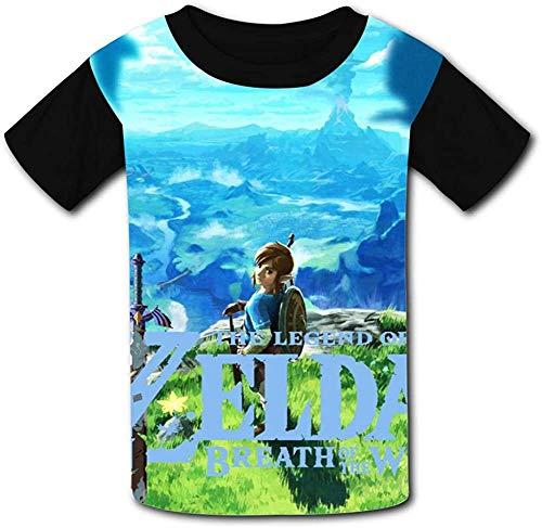 guoweiweiB T-Shirts Hemden Jungen Tops Breath The Leg-end of Zel-da Blue Sky Unisex Kids T-Shirts 3D Printed Fashion Youth T Shirt Tees for Boys Girls