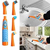Reveal Power Scrubber Sonic Scrubber Electric Cleaning Brush with 4 Brush Heads for Tubs