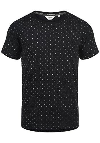 !Solid Aaron Herren T-Shirt Kurzarm Shirt Mit Rundhals-Ausschnitt Und All-Over-Print, Größe:M, Farbe:Black (9000)