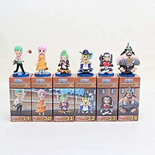 6Pcs/Set Anime Q Version Dressrosa Luffy Lucy Chopper Rebecca Zoro Brook PVC Action Figure Model Collection Toy New Must Haves Friendship Gifts Childrens Favourites Superhero Coloring