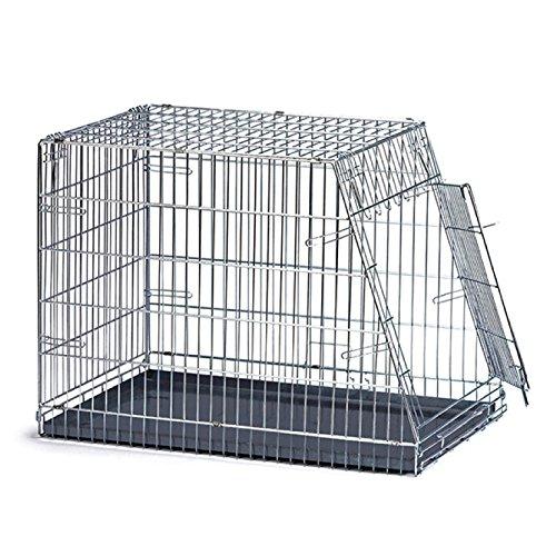 Arquivet Jaula mediana transporte perros inclinada, de metal, 1 puerta, plegable- 78 x 49 x 57 cm
