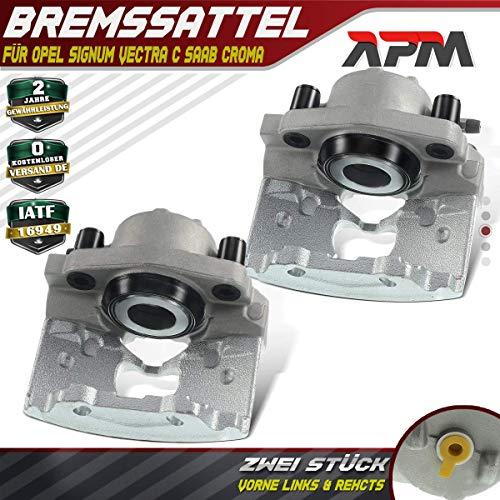 2x Bremssattel Bremszange ohne Träger Vorne Links Rechts für Croma 194 Signum Vectra C/CC 9-3 YS3F Nur für Kolben 57mm 2002-2008