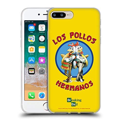 Head Case Designs Licenza Ufficiale Breaking Bad Los Pollos Hermanos Grafiche Cover in Morbido Gel Compatibile con Apple iPhone 7 Plus/iPhone 8 Plus