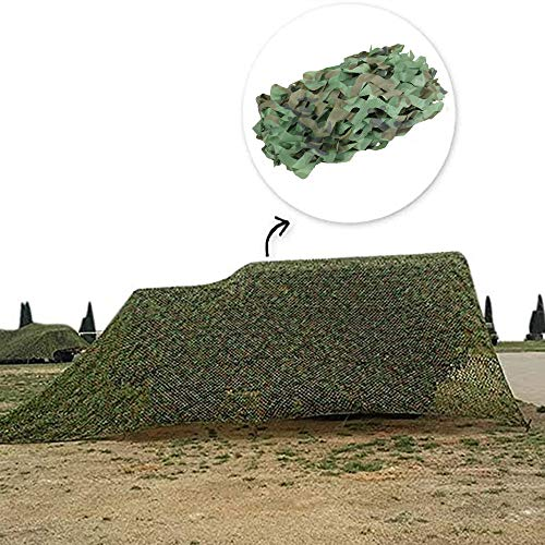 Military camouflage net, jungle camo net, awning, privacy protection, used for hunting/paintball/camping/wildlife observation, various sizes,6mx6m(19.7 * 19.7ft)