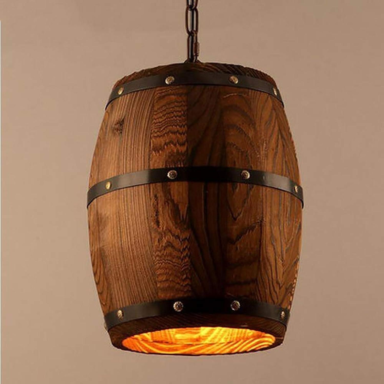 WIVION Pays américain rétro Pendentif Lampe, personnalité créative Baril Lustre Industriel Vintage lumière Bar Hotpot Shop